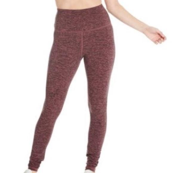 e3eb028261cef Athleta Pants | Maroon Heather Sweatwicking Leggings | Poshmark